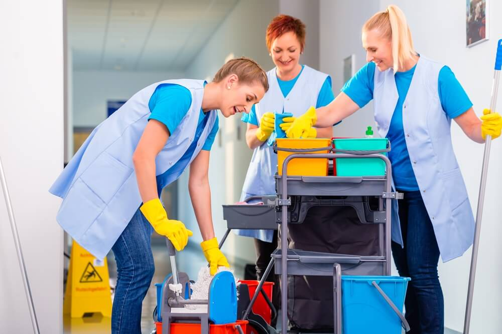 Being a cleaner can be rewarding but it's also hard work.